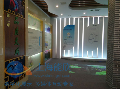 湘西烟草生态金叶品牌展厅互动投影