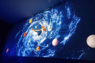 卢湾中学科普展厅地面互动投影