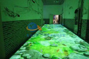 江西南昌万达红谷滩金街三通道互动投影
