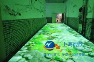 南昌万达红谷滩金街三通道互动投影